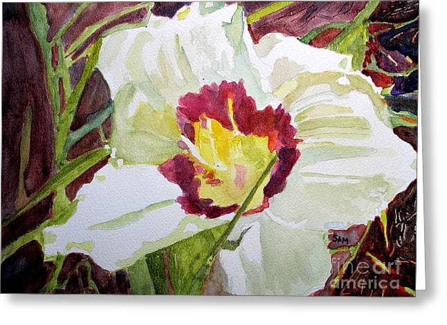 Day Lilly Paintings Greeting Cards - Pandoras Box Greeting Card by Sandy McIntire