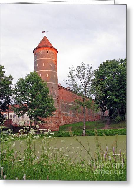 Panemunes Castle. Lithuania. Greeting Card by Ausra Huntington nee Paulauskaite