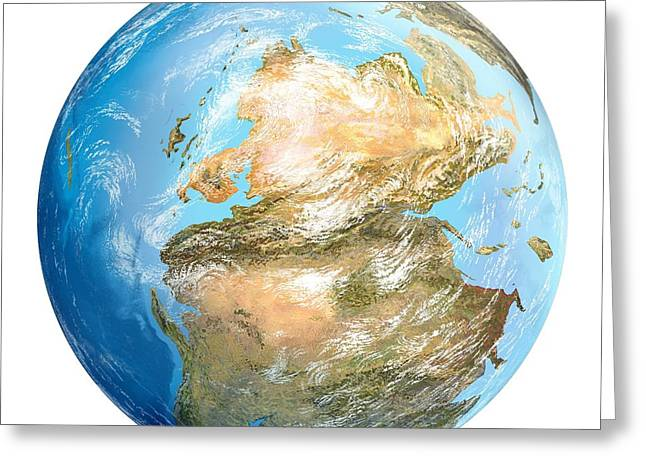 Pangea Greeting Cards - Pangea Supercontinent, Artwork Greeting Card by Gary Hincks