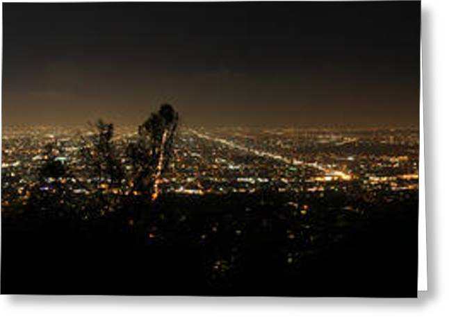 Bruster Greeting Cards - Pano from Griffeth Observatory  Greeting Card by Clayton Bruster