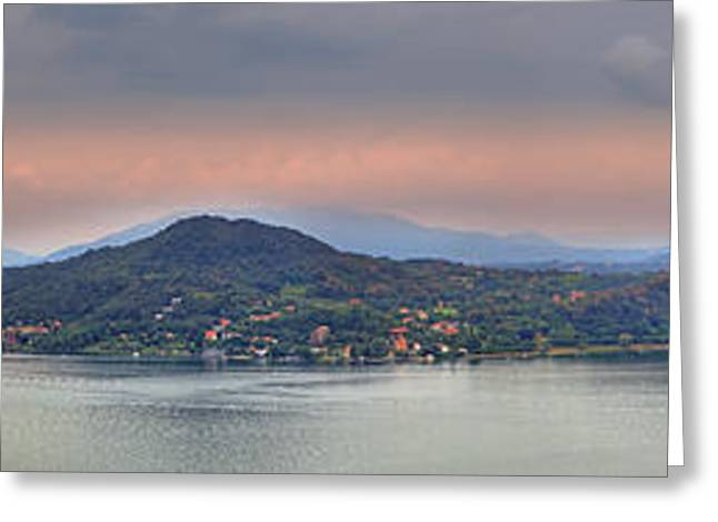 Prospects Greeting Cards - Panorama Lake Maggiore Greeting Card by Joana Kruse