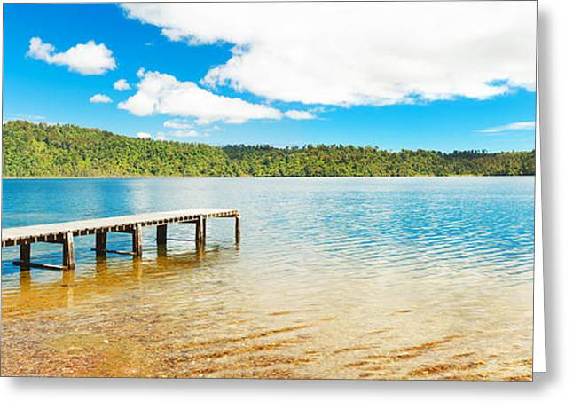 Jetty View Park Greeting Cards - Panorama lake Greeting Card by MotHaiBaPhoto Prints