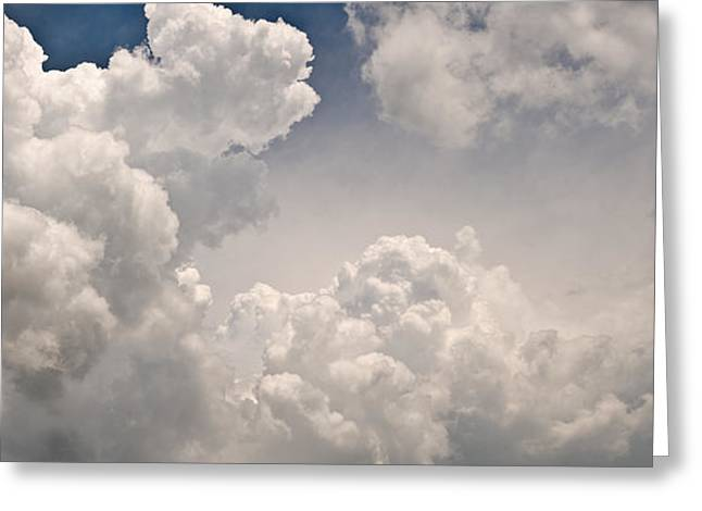 Panoramic Clouds Number 9 Greeting Card by Steve Gadomski