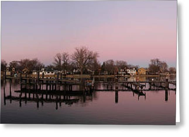 Menasha Greeting Cards - Panoramic Menasha Greeting Card by Joel Witmeyer