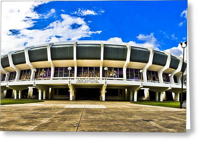 Lsu Tigers Greeting Cards - Panoramic P Mac Greeting Card by Scott Pellegrin