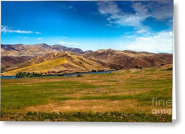 Landsacape Greeting Cards - Panoramic Range Land Greeting Card by Robert Bales