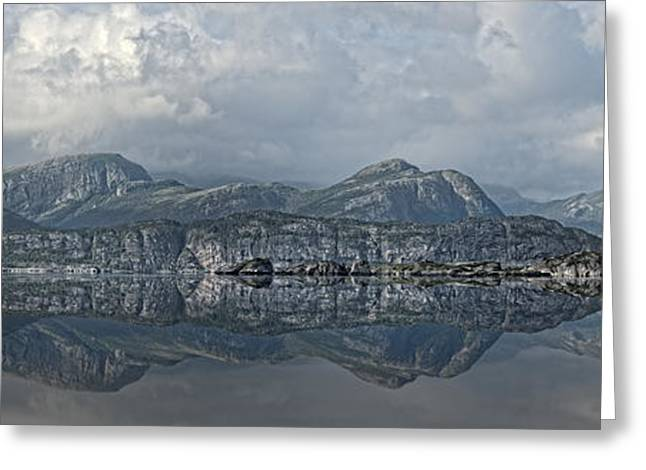 Nord Greeting Cards - Panoramic Reflections Greeting Card by Andy Astbury