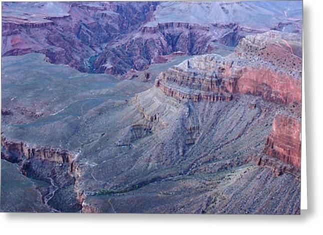 Jeka World Photography Greeting Cards - Panoramic view of the Grand Canyon Greeting Card by Jeff Rose