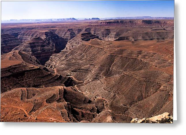 Primitive Desert Greeting Cards - Panormaic View of Canyonland Greeting Card by Robert Bales