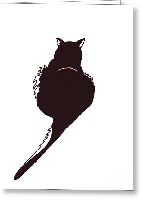House Pet Drawings Greeting Cards - Panther  Greeting Card by Rachel Lowry