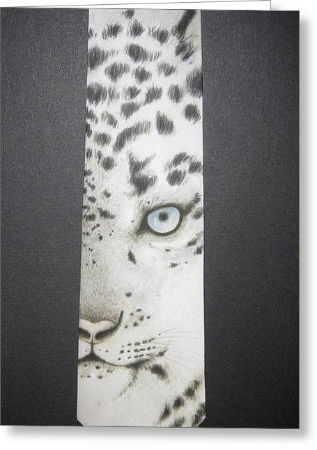 Animal Tapestries - Textiles Greeting Cards - Panthera Uncia Greeting Card by David Kelly