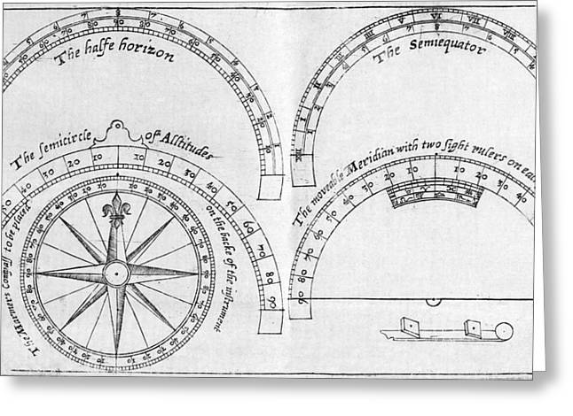 Surveying Greeting Cards - Pantometer, 16th Century Greeting Card by Middle Temple Library