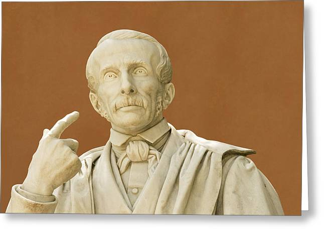 Statue Portrait Photographs Greeting Cards - Paolo Savi, Italian Geologist Greeting Card by Sheila Terry