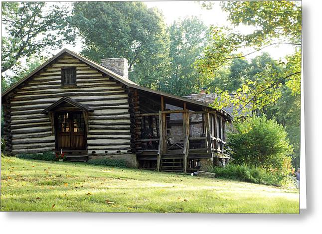 Log Cabins Framed Prints Greeting Cards - papa Toms cabin Greeting Card by Robert Margetts