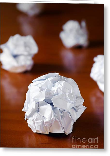 Mistake Greeting Cards - Paper Balls Greeting Card by Carlos Caetano
