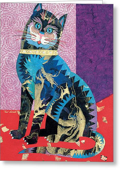 Reality Imagined. Greeting Cards - Paper Cat Greeting Card by Bob Coonts