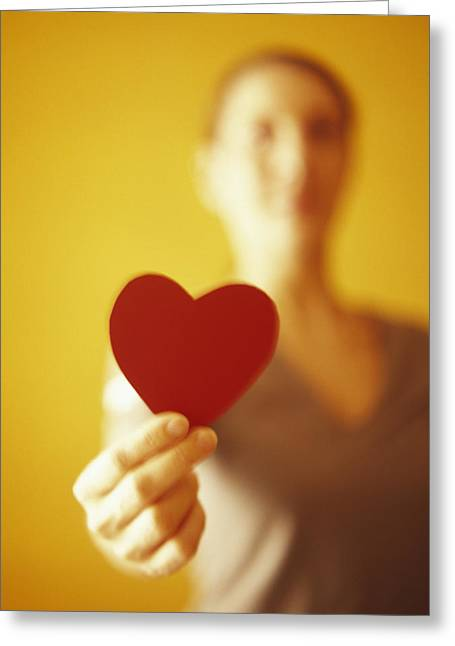Heart Healthy Photographs Greeting Cards - Paper Heart Greeting Card by Cristina Pedrazzini