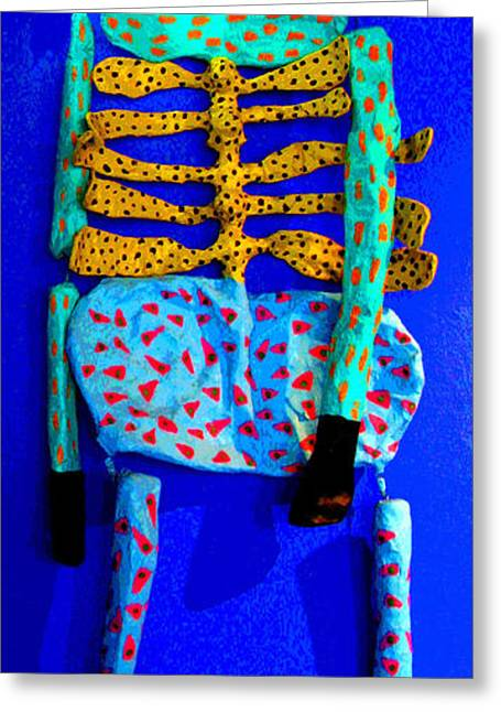 Gypsy Greeting Cards - Paper Mache Figure 2 by Darian Day Greeting Card by Olden Mexico
