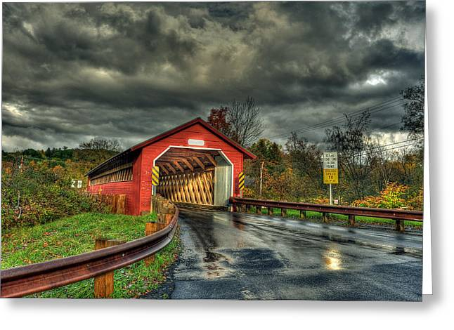 Paper Mill Greeting Cards - Paper Mill Bridge Greeting Card by Dennis Clark