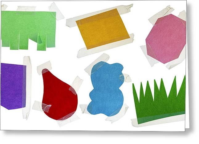 Paper Multi-colored Blank Slices  For Notes Greeting Card by Aleksandr Volkov