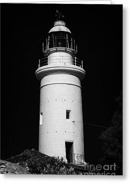 Pafos Greeting Cards - Paphos Lighthouse Republic Of Cyprus Greeting Card by Joe Fox