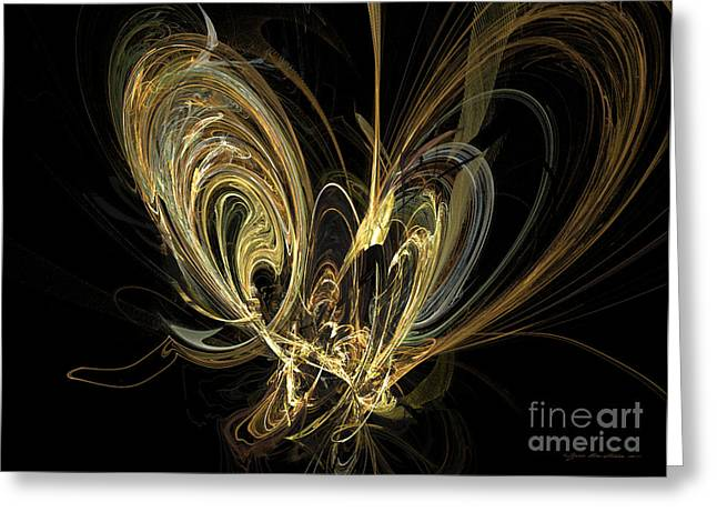 Interior Still Life Mixed Media Greeting Cards - Papillon - abstract art Greeting Card by Abstract art prints by Sipo