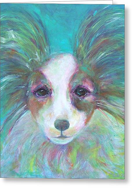 Art In Acrylic Greeting Cards - Papillon Greeting Card by Deb Magelssen