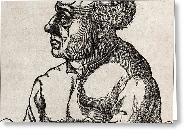 Paracelsus, Swiss Alchemist Greeting Card by Middle Temple Library