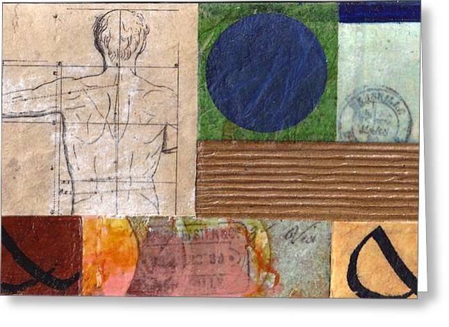 Physical Body Mixed Media Greeting Cards - Paradigm Shift 2 Greeting Card by Phillip  Jaeger