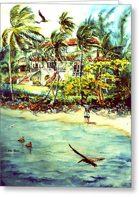 Reproducciones Tropicales Greeting Cards - Paradise at Dorado Puerto Rico Greeting Card by Estela Robles