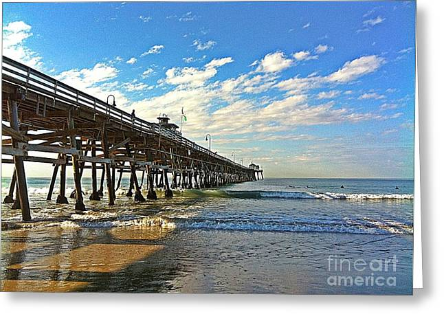 Paradise at the Pier Greeting Card by Traci Lehman