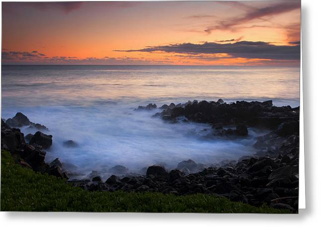 Boil Greeting Cards - Paradise Cove Sunset Greeting Card by Mike  Dawson