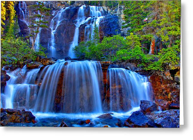 British Columbia Greeting Cards - Paradise Falls Greeting Card by Scott Mahon