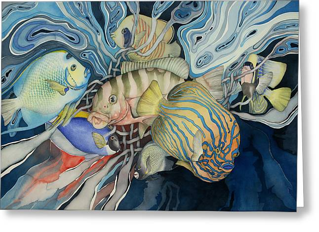Sealife Greeting Cards - Paradise Found Greeting Card by Liduine Bekman