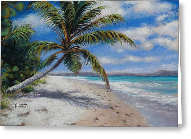 Beach Landscape Pastels Greeting Cards - Paradise Found Greeting Card by Susan Jenkins
