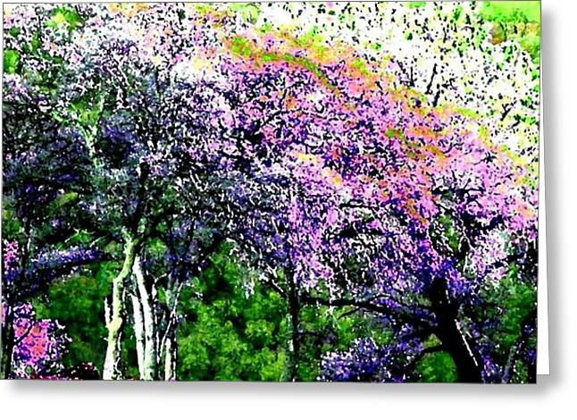 Spectacular Digital Art Greeting Cards - Paradise Hills Greeting Card by Will Borden