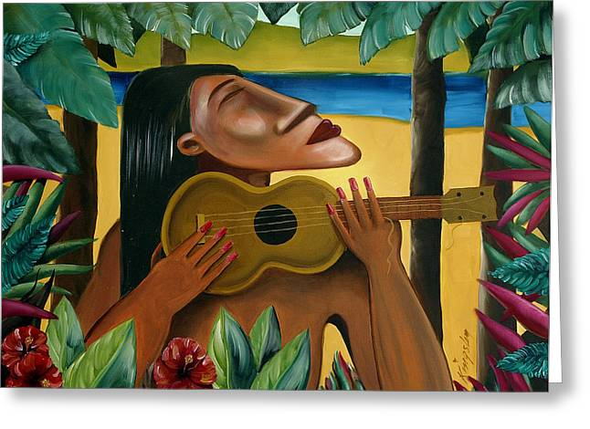 Ukelele Greeting Cards - Paradise Lost Greeting Card by Mark Brown