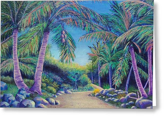 Paradise Road Greeting Cards - Paradise Greeting Card by Susan DeLain
