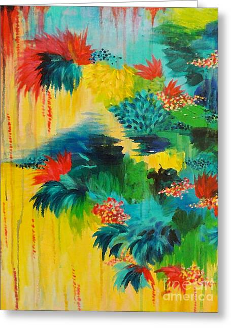 Wow Paintings Greeting Cards - Paradise Waits Greeting Card by Julia Di Sano