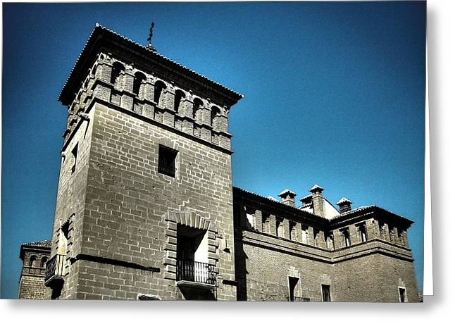 Pui-pinos Greeting Cards - Parador de Alcaniz - Spain Greeting Card by Juergen Weiss