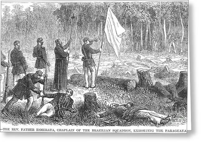 Chaplain Greeting Cards - Paraguayan War, 1868 Greeting Card by Granger