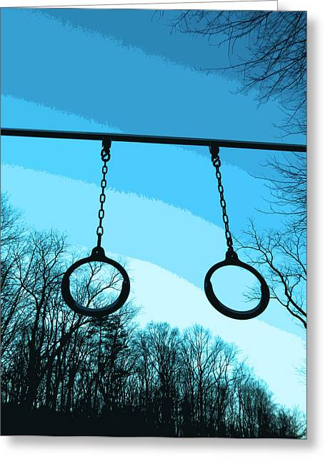 Parallel Rings Greeting Card by Patricia Januszkiewicz