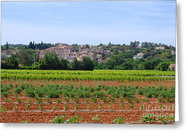 Provence Village Greeting Cards - Parallel Universe Greeting Card by Andrea Simon