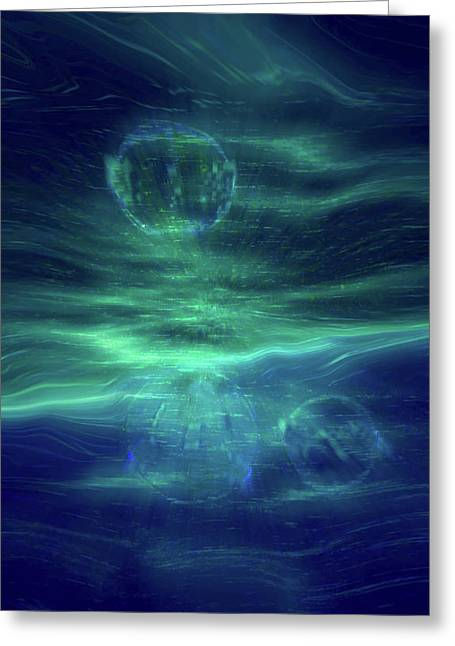 Parallel Universe Greeting Cards - Parallel Universe  Greeting Card by Linda Sannuti