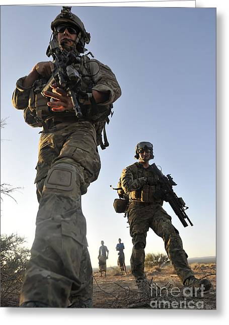 Man Looking Down Greeting Cards - Pararescuemen Arrive On Scene At A Mock Greeting Card by Stocktrek Images