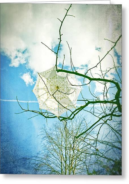 Screen Greeting Cards - Parasol Greeting Card by Joana Kruse