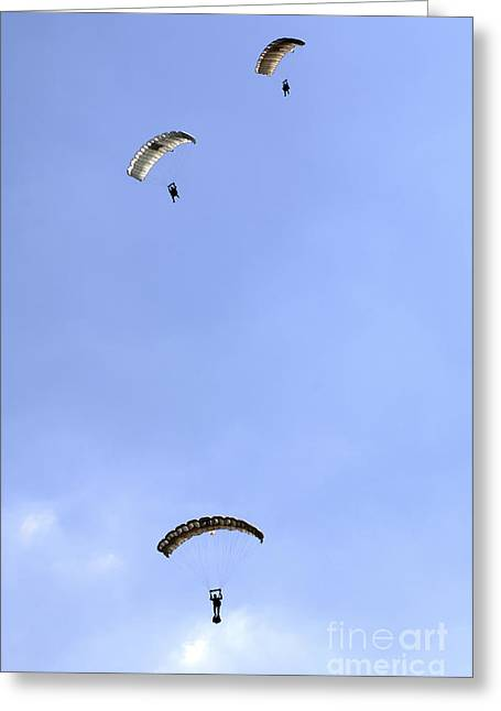 Brigade Greeting Cards - Paratroopers From The Pathfinder Greeting Card by Andrew Chittock