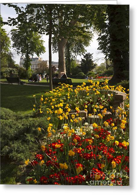 Invalides Greeting Cards - Parc Les Invalides in Spring Greeting Card by Louise Heusinkveld