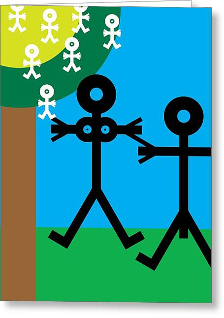 Child Care Greeting Cards - Parents And Babies, Conceptual Artwork Greeting Card by Thisisnotme