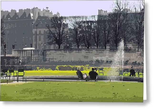 Paris 02 Greeting Card by Yuriy  Shevchuk